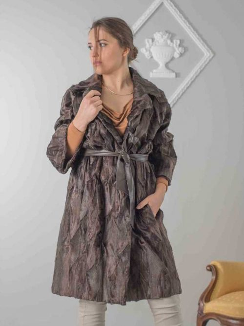 cappotto oversize persiano marrone