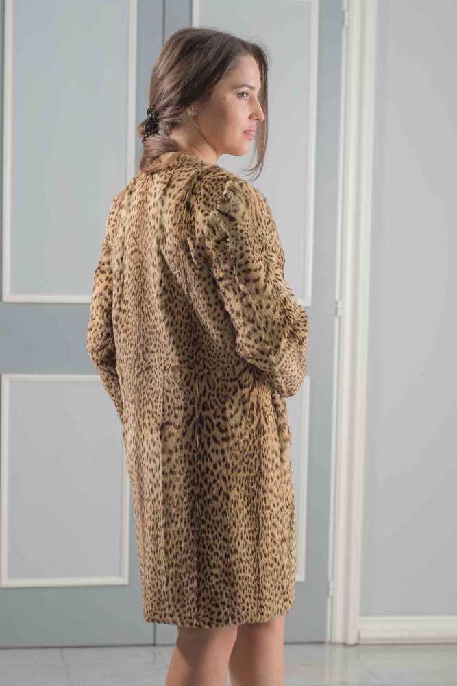 cappotto dritto agnello stampato