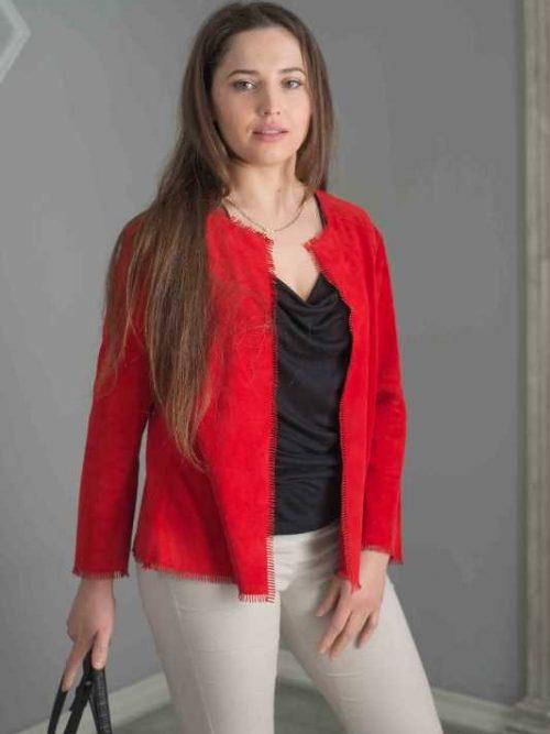 giacca scamosciato donna