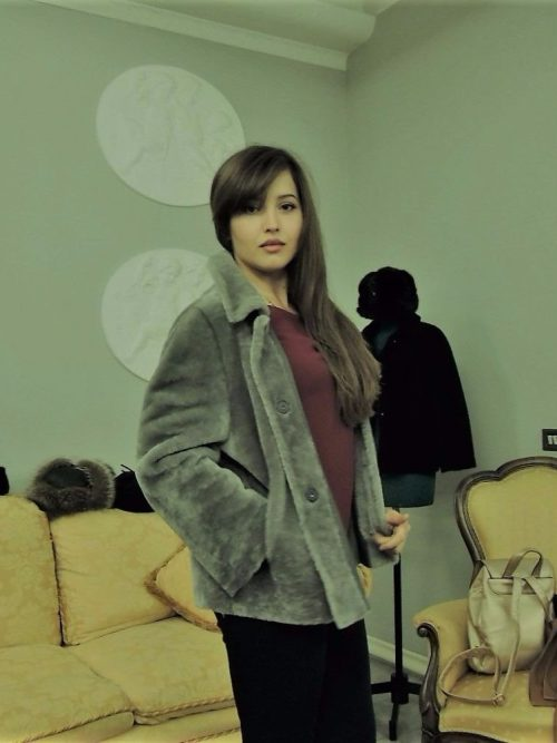 giacca montone reversibile donna