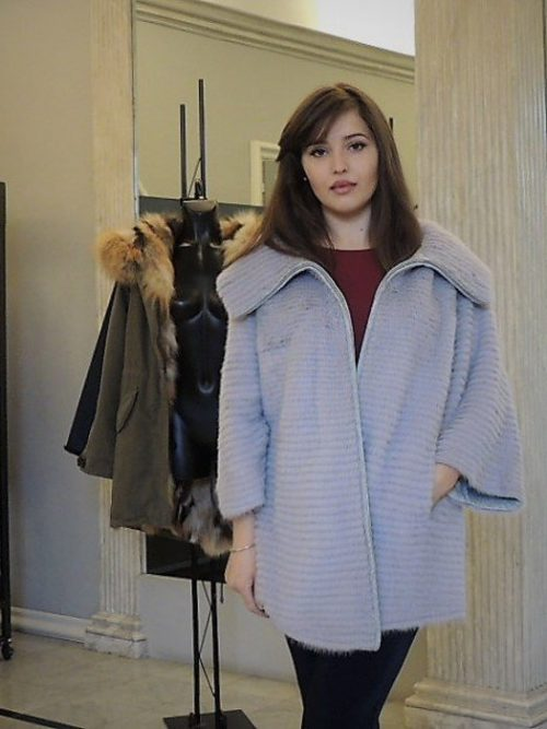 giacca visone c/cerniera