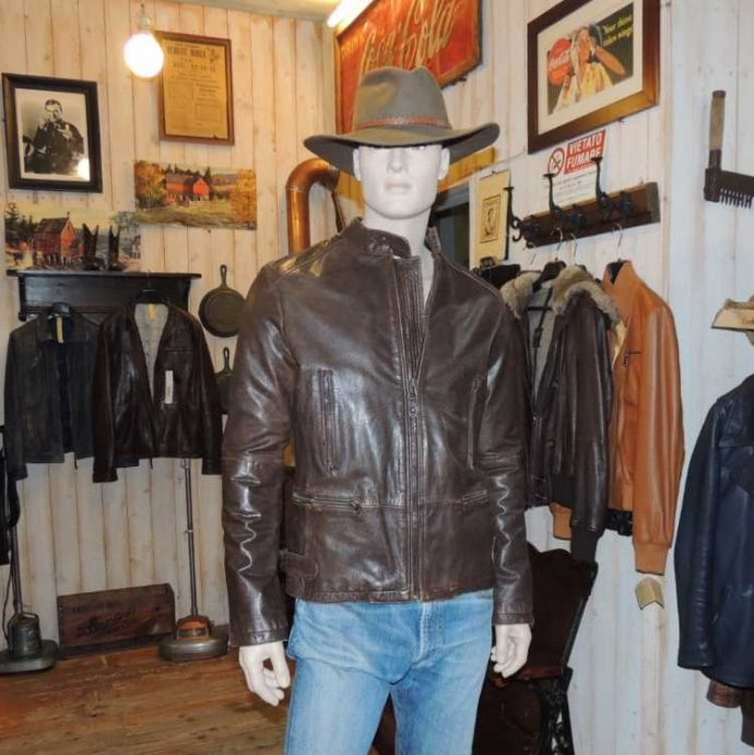 giacca pelle country uomo