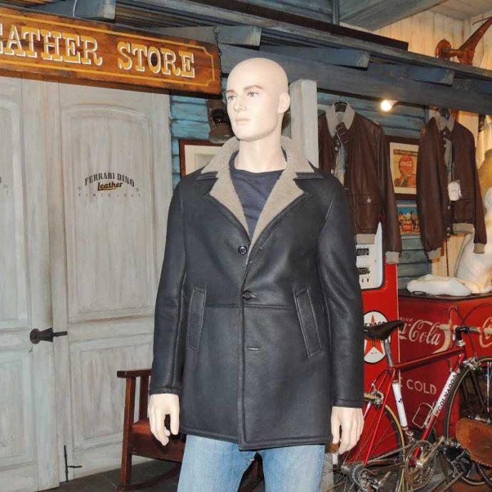 cappotto montone nappato uomo