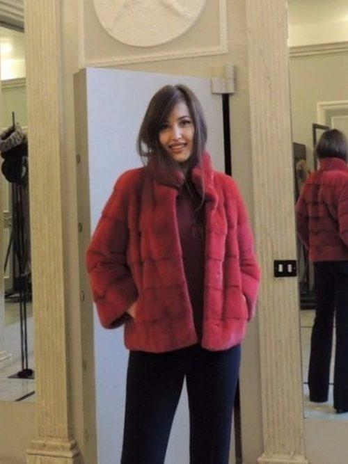 giacca visone rosso orizzontale