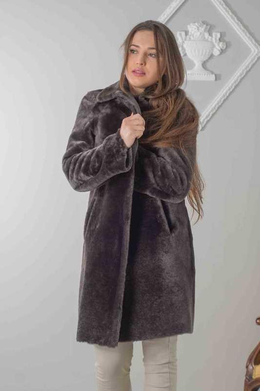 cappottino montone reversibile donna