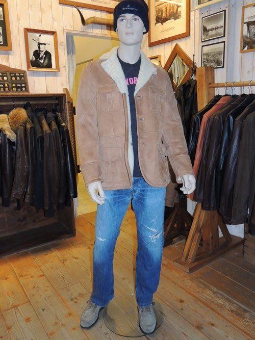 giacca montone scamosciato uomo