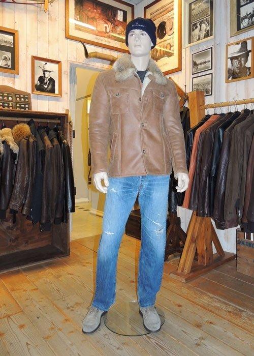 giacca montone nappato uomo