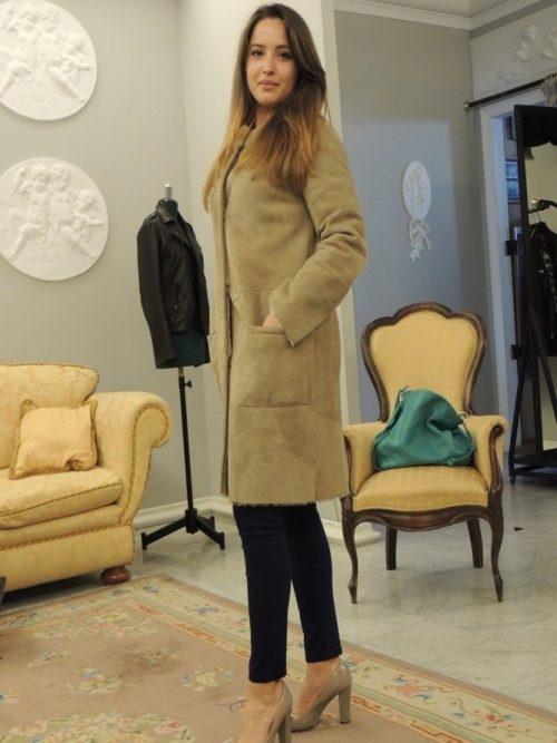 cappotto montone reversibile donna
