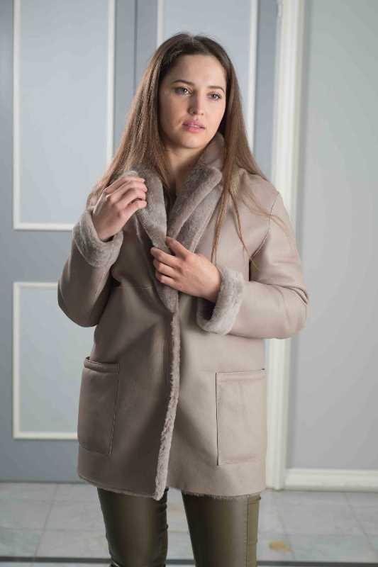 giaccone oversize montone nappato donna