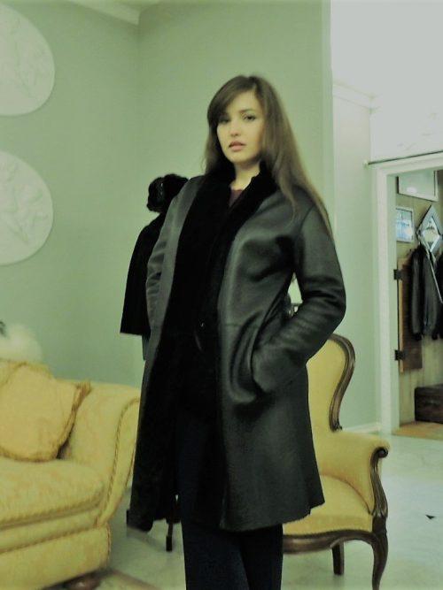 cappotto merino reversibile donna